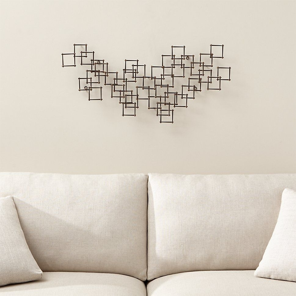 Crate & Barrel Squares Nail Metal Wall Art | Square Nails, Metal Intended For Crate And Barrel Wall Art (View 7 of 20)