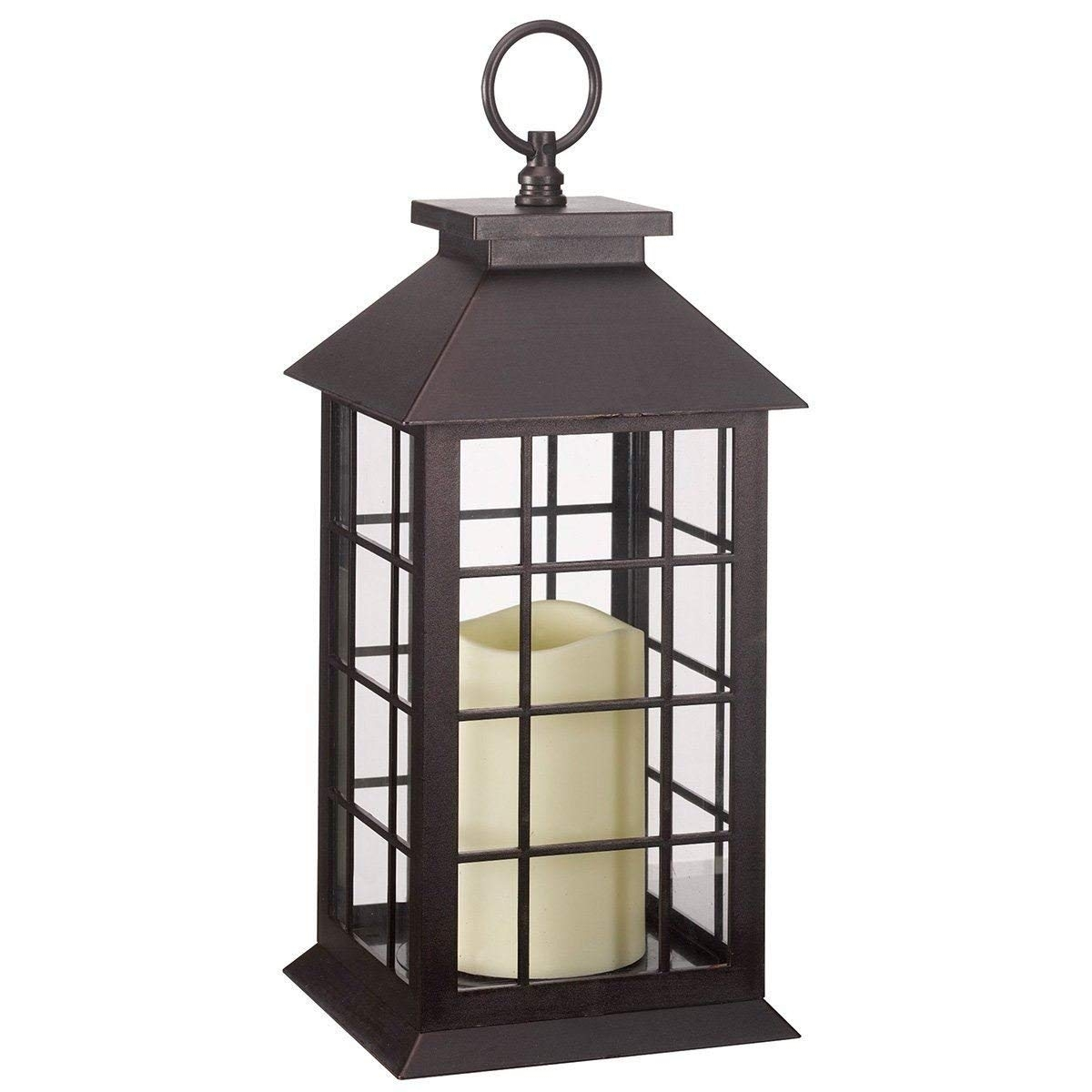 Crazygadget Battery Operated Window Lantern With Timer Led Candle regarding Outdoor Lanterns With Timers (Image 8 of 20)