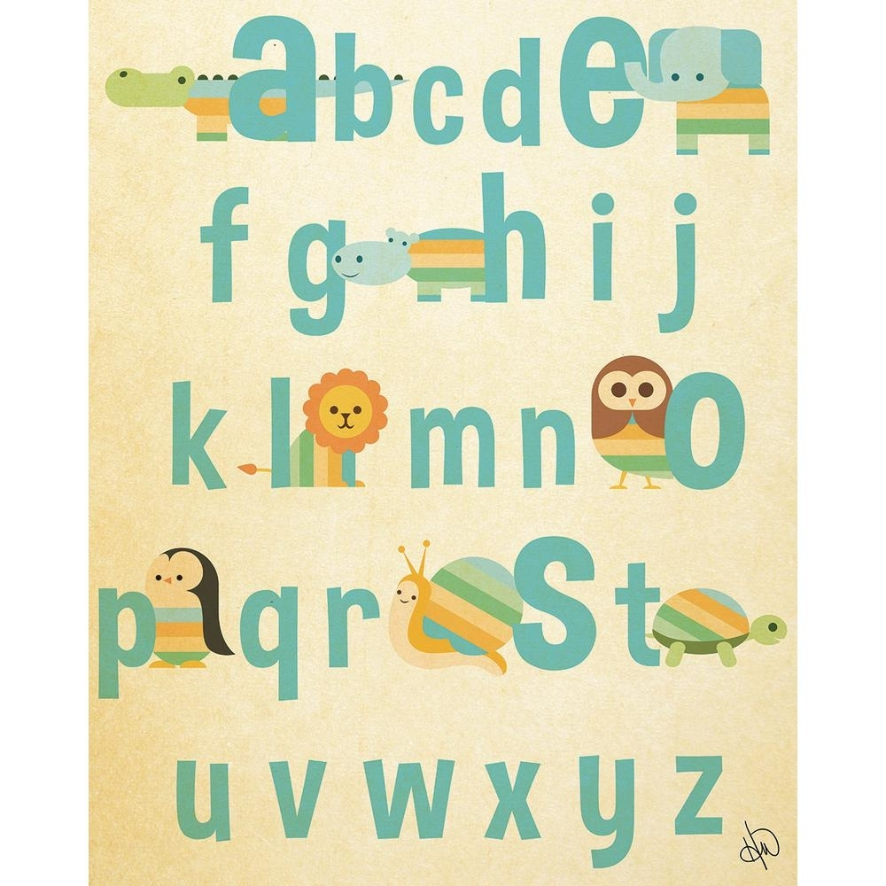 "Creative Gallery 11 In. X 14 In. ""animal Alphabet"" Acrylic Wall Art pertaining to Alphabet Wall Art (Image 7 of 20)"