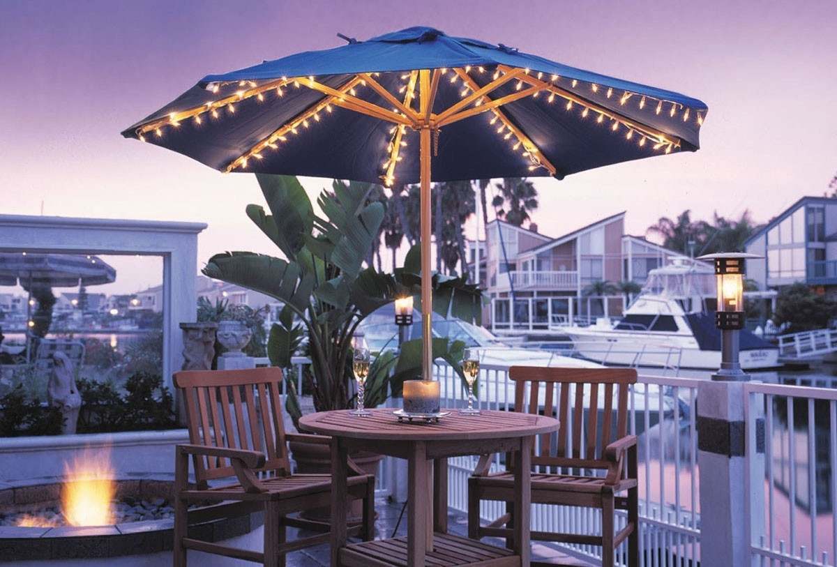 Creative Of Patio Umbrellas With Lights Patio Umbrella Lights Ashery In Outdoor Umbrella Lanterns (View 5 of 20)