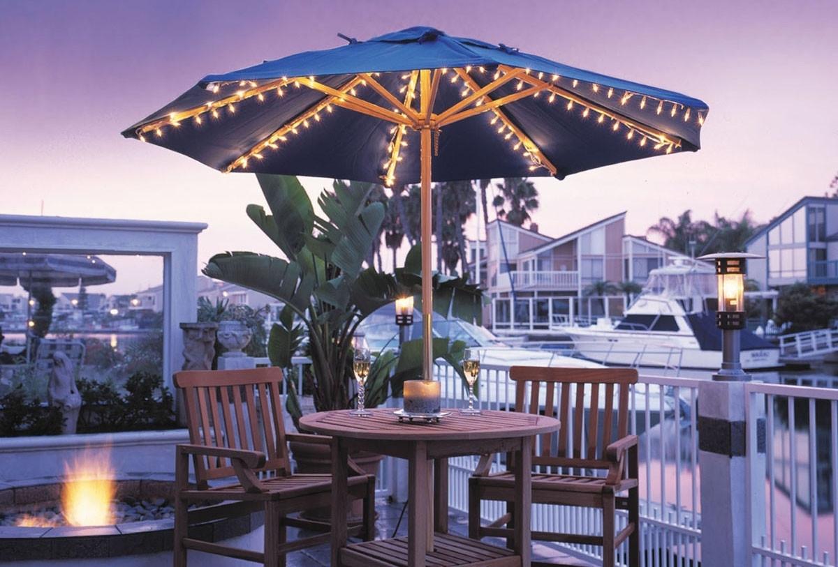 Creative Of Patio Umbrellas With Lights Patio Umbrella Lights Ashery in Outdoor Umbrella Lanterns (Image 5 of 20)