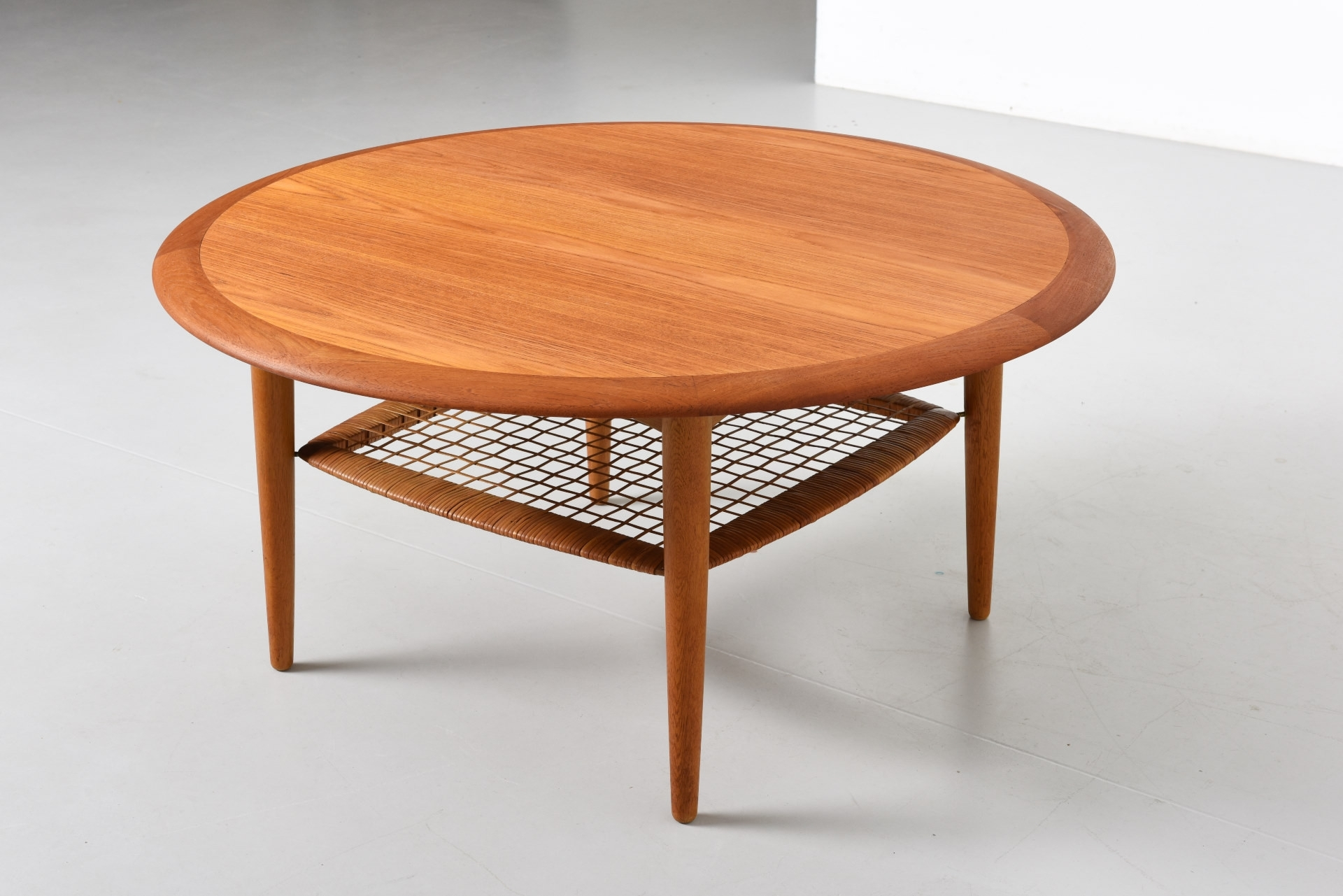 Creative Round Coffee Table With Shelf For Seagrass Coffee Table with regard to Round Teak Coffee Tables (Image 6 of 30)