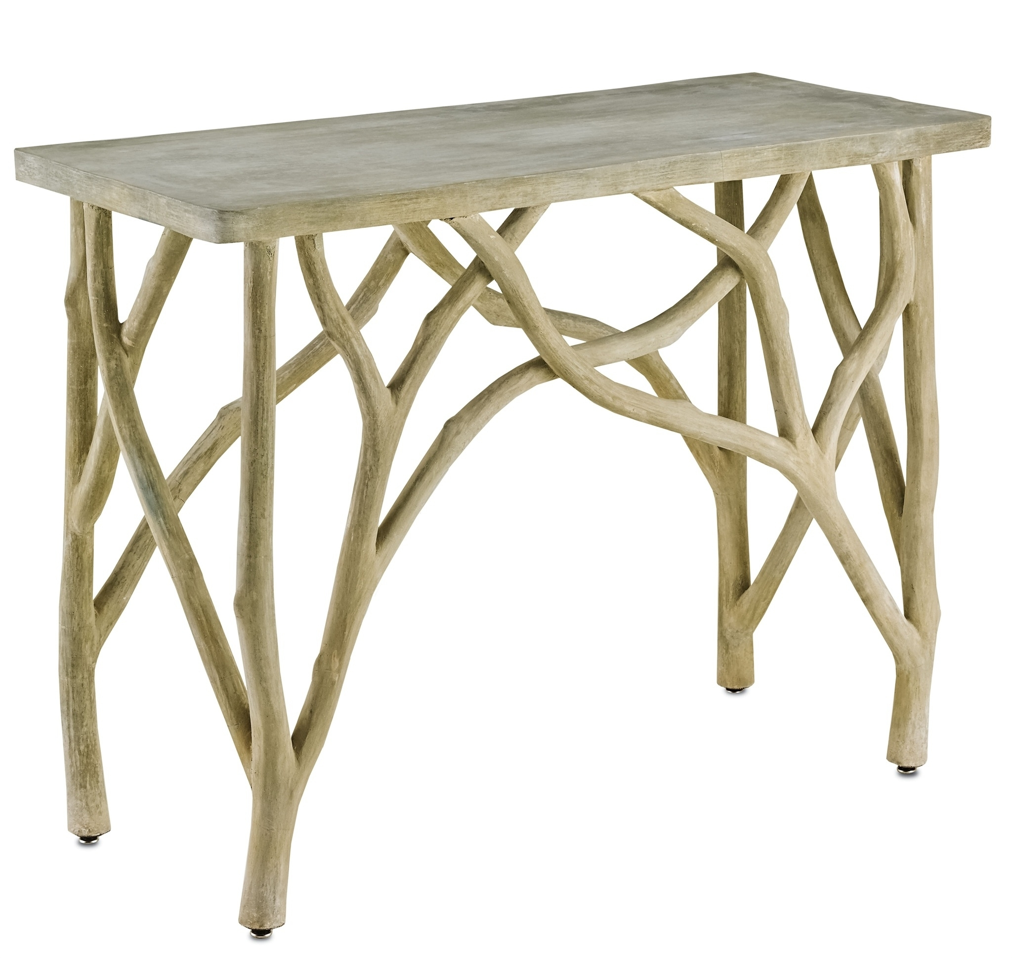 Creekside Console Table | Currey & Company regarding Faux Bois Coffee Tables (Image 9 of 30)