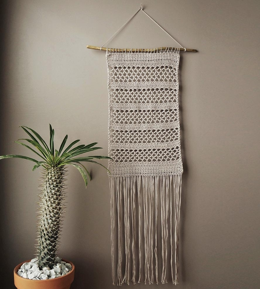Crochet Patterns Wall Hangings ~ Pakbit For . within Crochet Wall Art (Image 5 of 20)