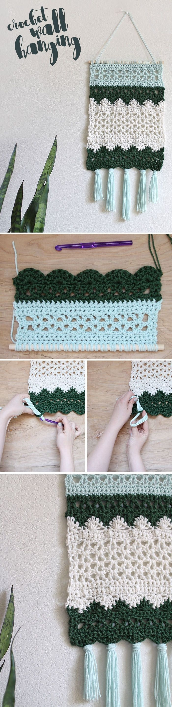 Crochet Wall Hanging Pattern | Moogly Community Board | Pinterest pertaining to Crochet Wall Art (Image 6 of 20)