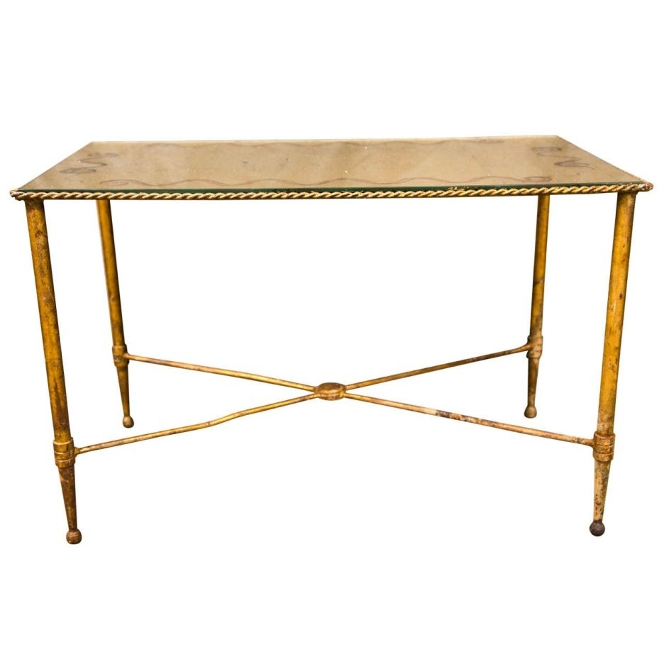 Cube Coffee Table Art Deco Coffee Table Glass Coffee Table With within Brass Iron Cube Tables (Image 12 of 30)
