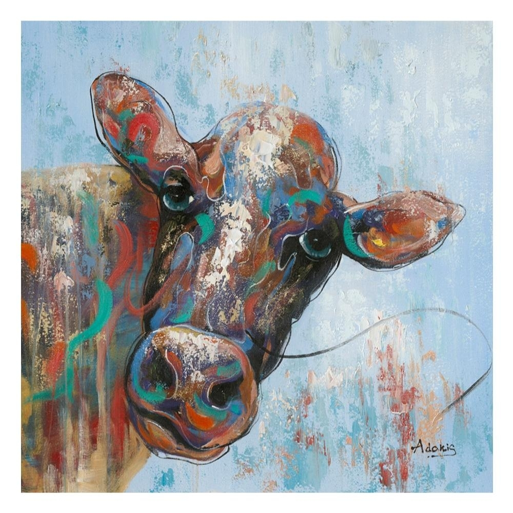 Curious Cow Wall Decor – Boulevard Urban Living Throughout Cow Canvas Wall Art (View 12 of 20)