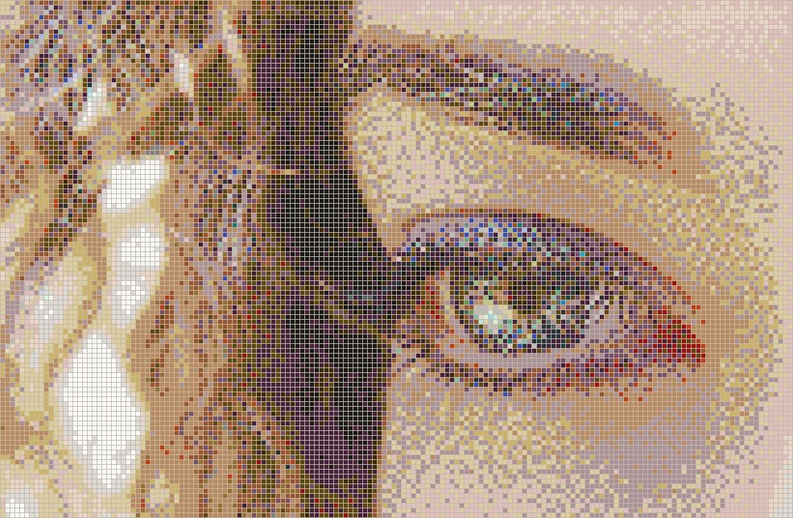 Curly Eye (Alice) - Framed Mosaic Wall Art regarding Mosaic Wall Art (Image 3 of 20)