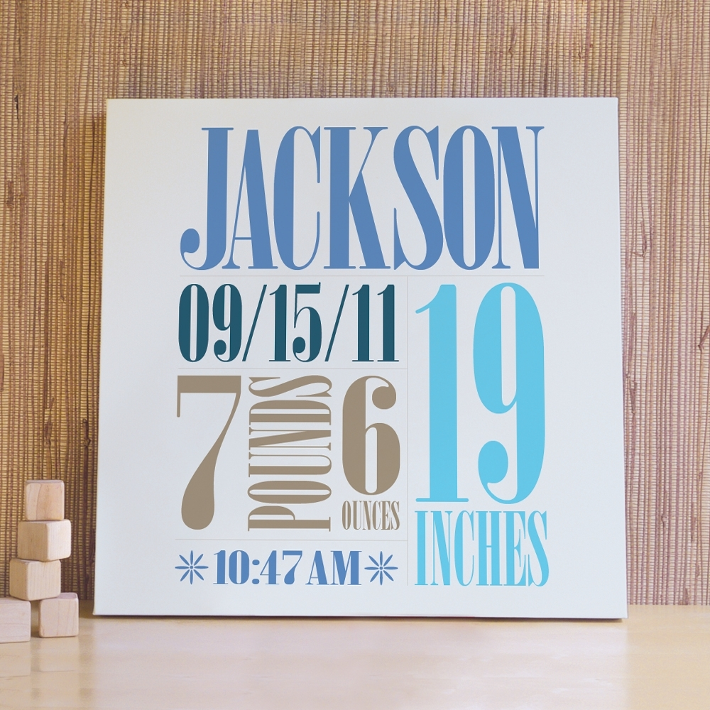 Custom Birth Wall Art – The Perfect Way To Customize The Baby's Room Pertaining To Personalized Wall Art (View 17 of 20)