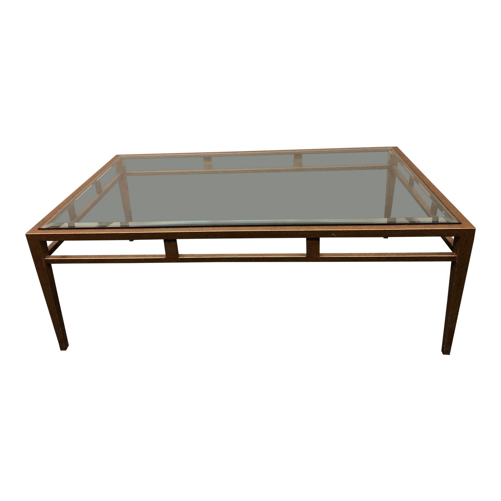 Custom Brass Finish Coffee Table. Original Price: $3,500.00 - Design pertaining to Rectangular Brass Finish and Glass Coffee Tables (Image 8 of 30)