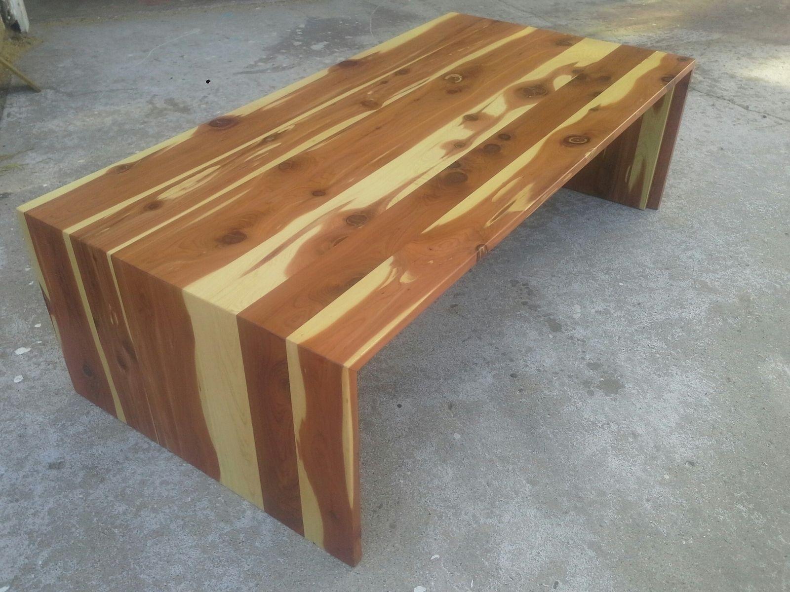 Custom Cedar Waterfall Coffee Tabletpt Cal   Custommade with Waterfall Coffee Tables (Image 7 of 30)