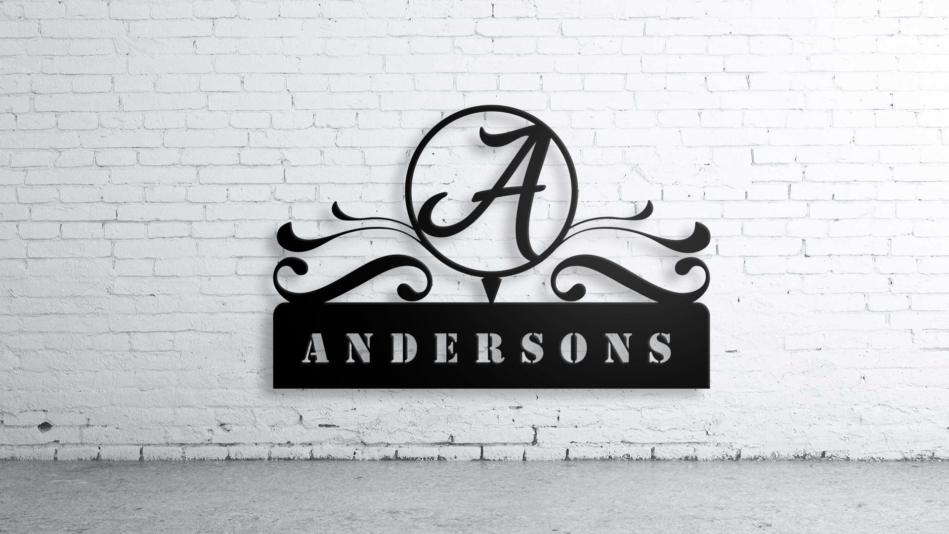 Custom Family Name, Wall Art,custom Sign, Family Name, Aluminum In Family Name Wall Art (View 9 of 20)