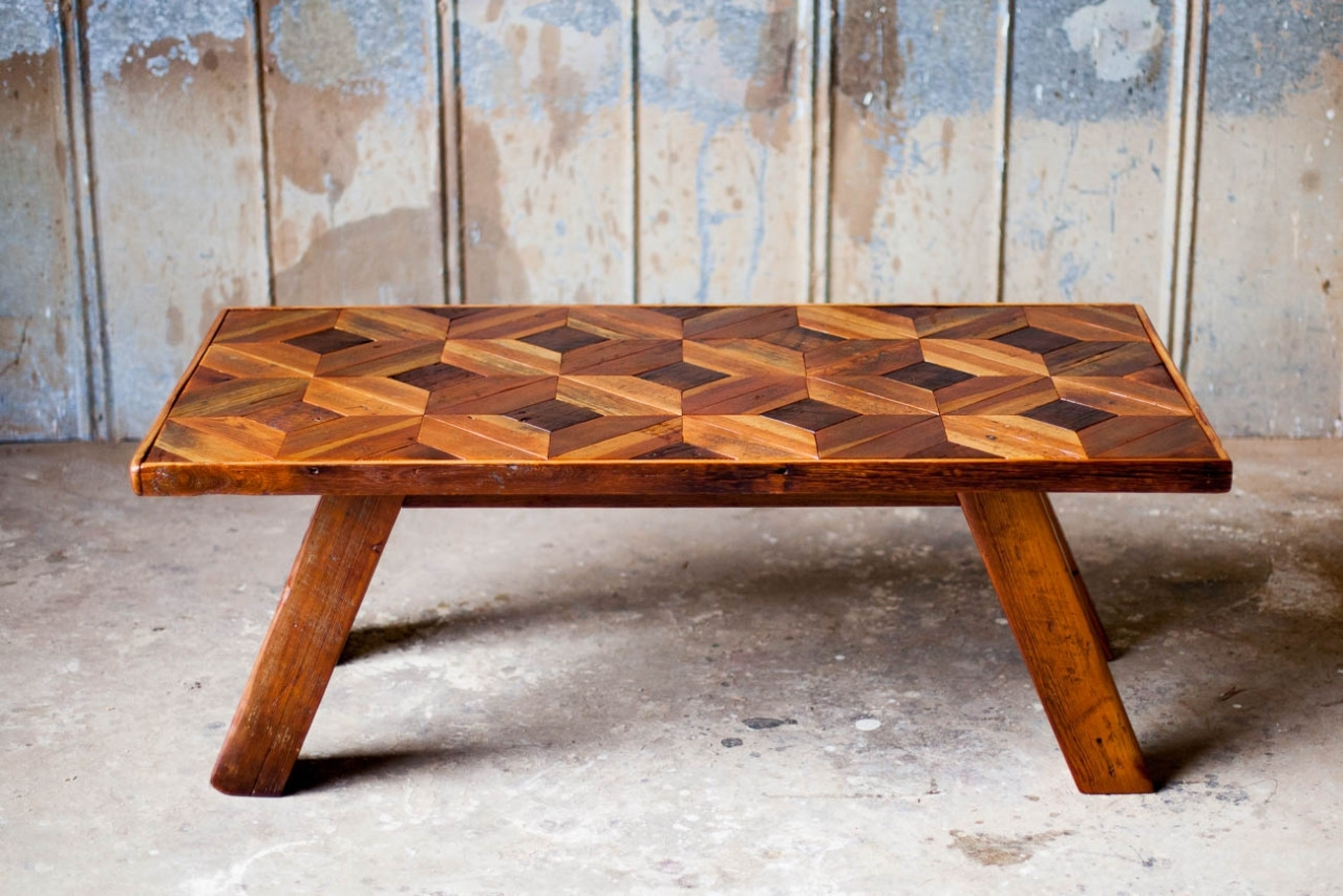 Custom Reclaimed Wood Furniture | Reclaimed Wood | Farm Table with Mill Large Coffee Tables (Image 7 of 30)