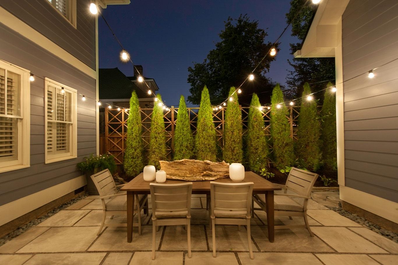 Custom String Lights | Light Up Nashville | Outdoor String Lighting with Outdoor String Lanterns (Image 7 of 20)