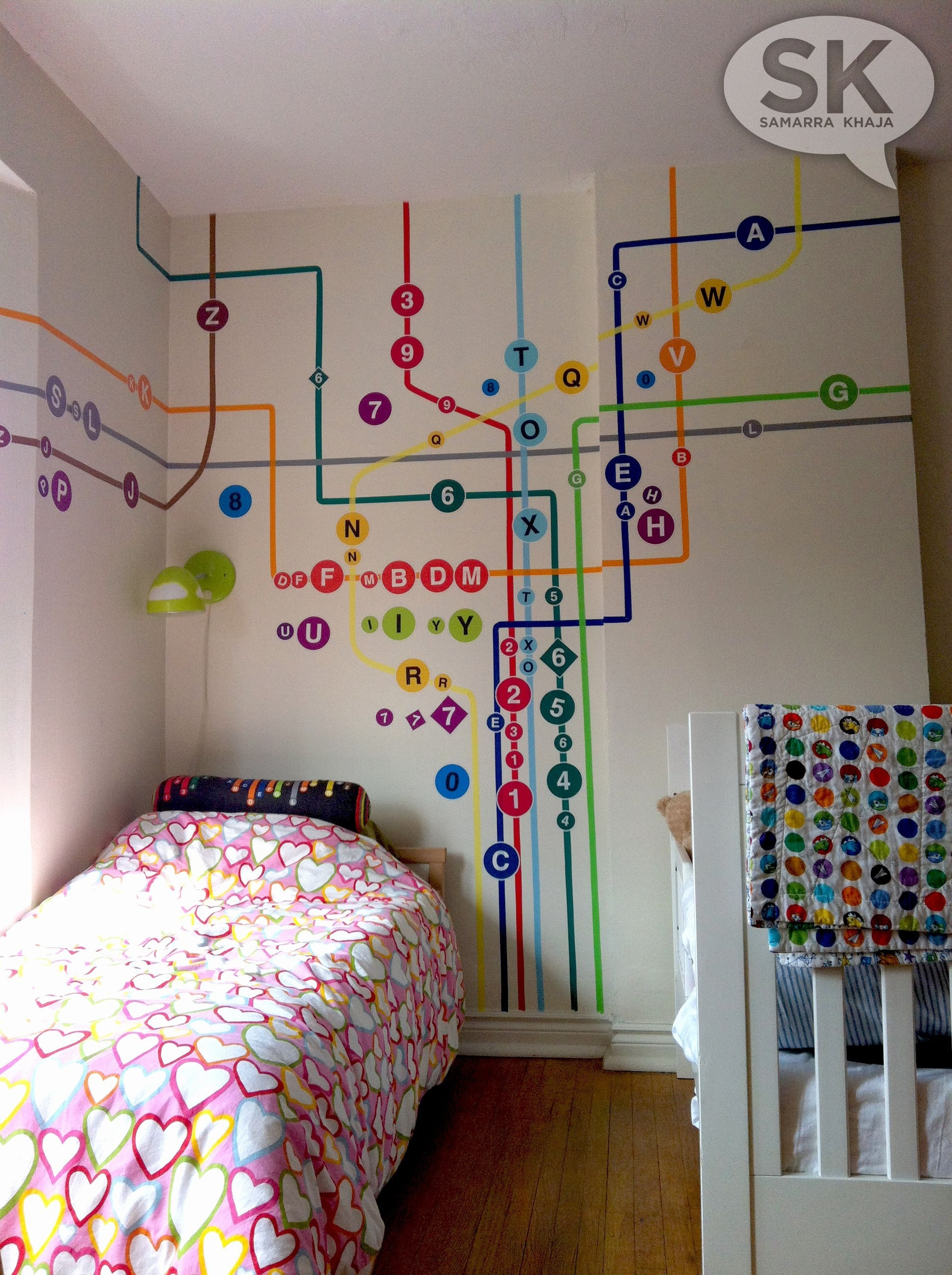 Custom Subway Map Wallpapersammyk On Spoonflower Com Make A pertaining to Nyc Subway Map Wall Art (Image 5 of 20)