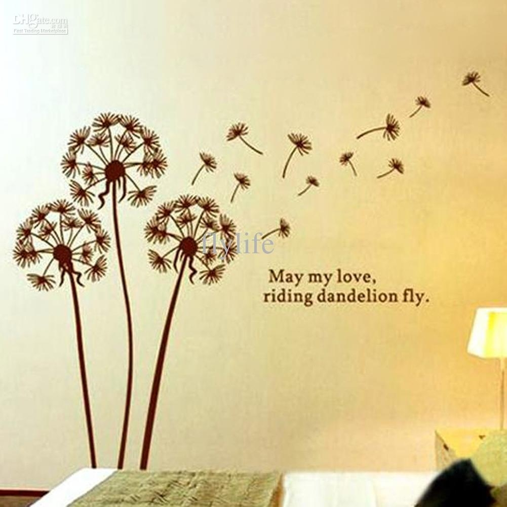 Dandelion Quotes Art Wall Decor Vinyl Stickers Removable Decals For intended for Dandelion Wall Art (Image 4 of 20)