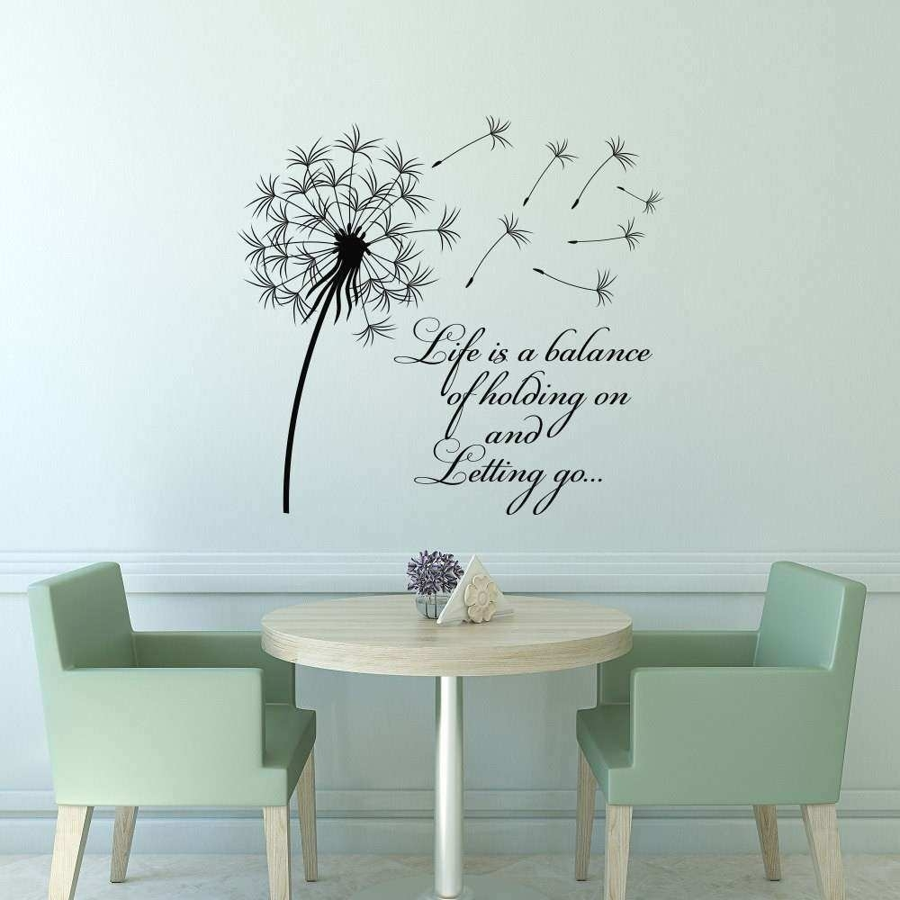Dandelion Wall Art Awesome Dandelion Wall Decal Quote Life Is A regarding Dandelion Wall Art (Image 5 of 20)
