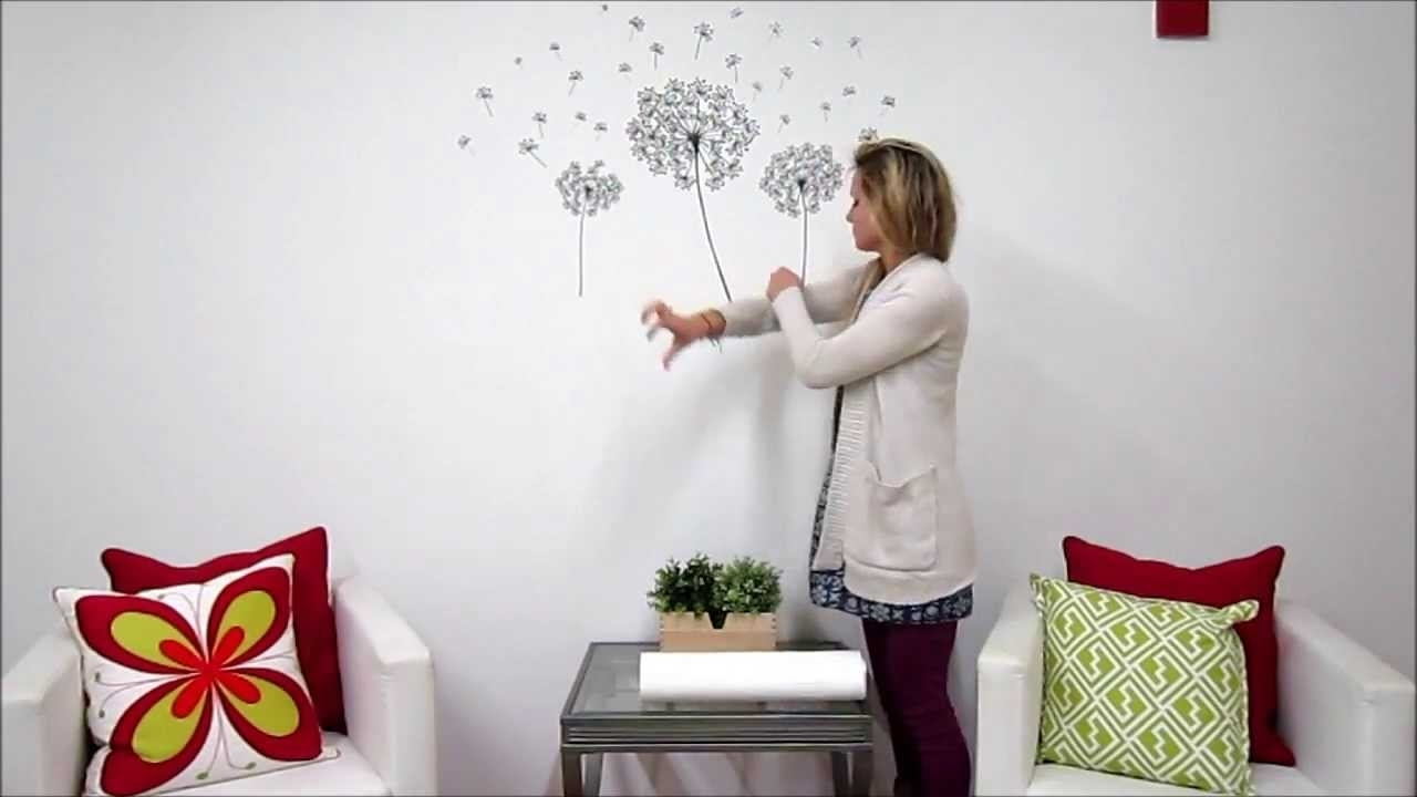 Dandelion Wall Art Kit - Youtube with regard to Dandelion Wall Art (Image 7 of 20)