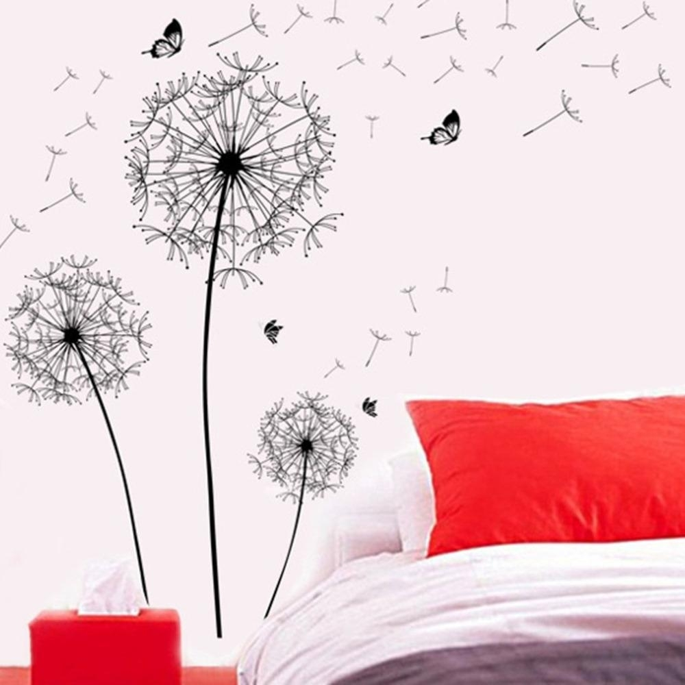 Dandelion Wall Art/wall Sticker | Wall Sticker And Products throughout Dandelion Wall Art (Image 10 of 20)