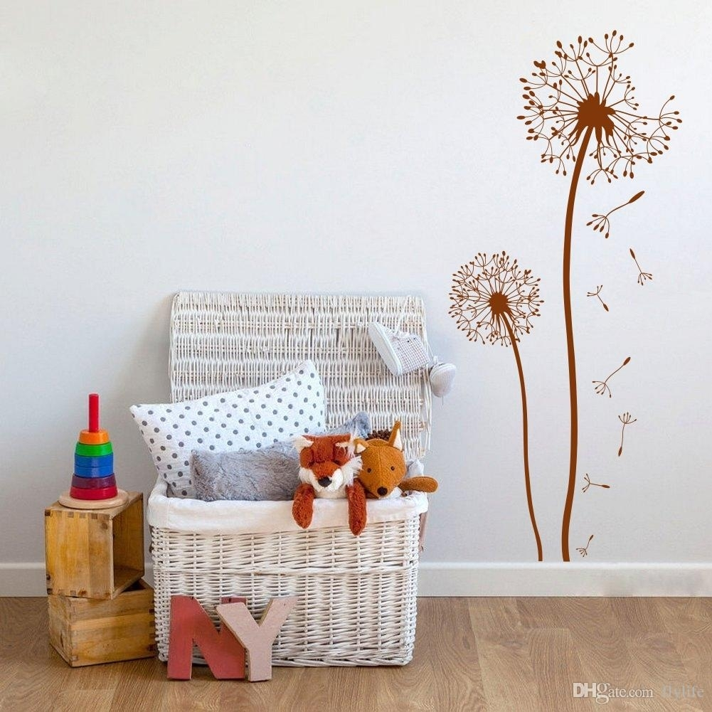 Dandelion Wall Decal Diy Mural Art Vinyl Stickers For Living Room intended for Dandelion Wall Art (Image 12 of 20)