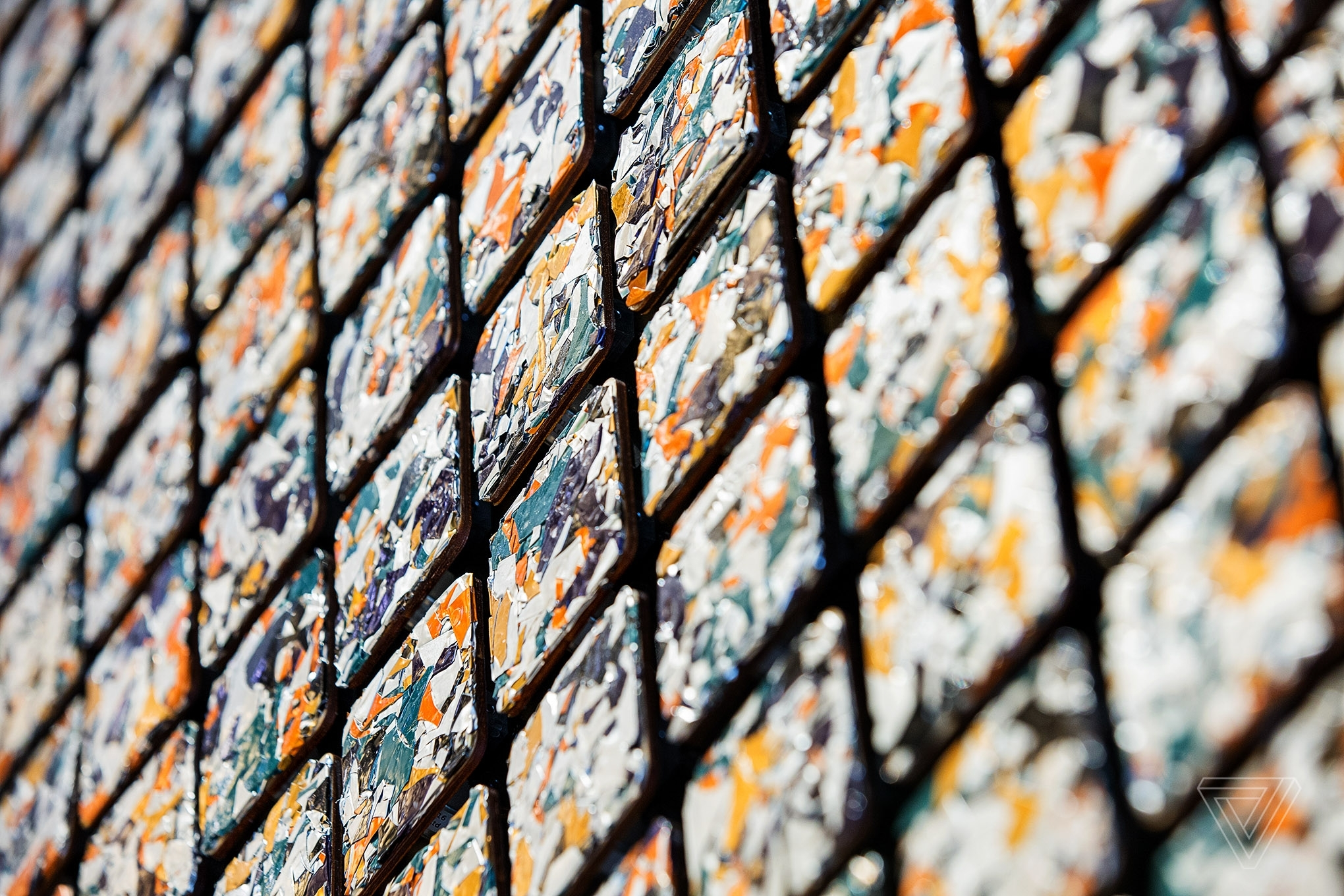 Daniel Rozin's Interactive Sculpture Is Made Of 832 Moving Tiles Inside Kinetic Wall Art (Gallery 14 of 20)