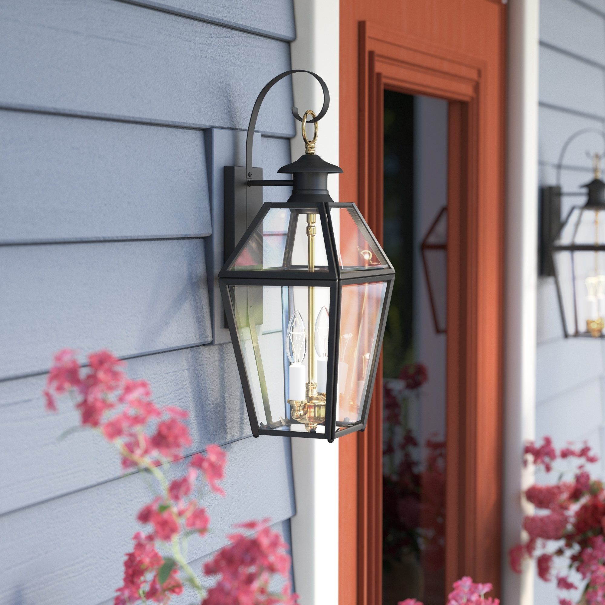 Darby Home Co Alam 2-Light Outdoor Wall Lantern & Reviews | Wayfair throughout Outdoor Oversized Lanterns (Image 4 of 20)