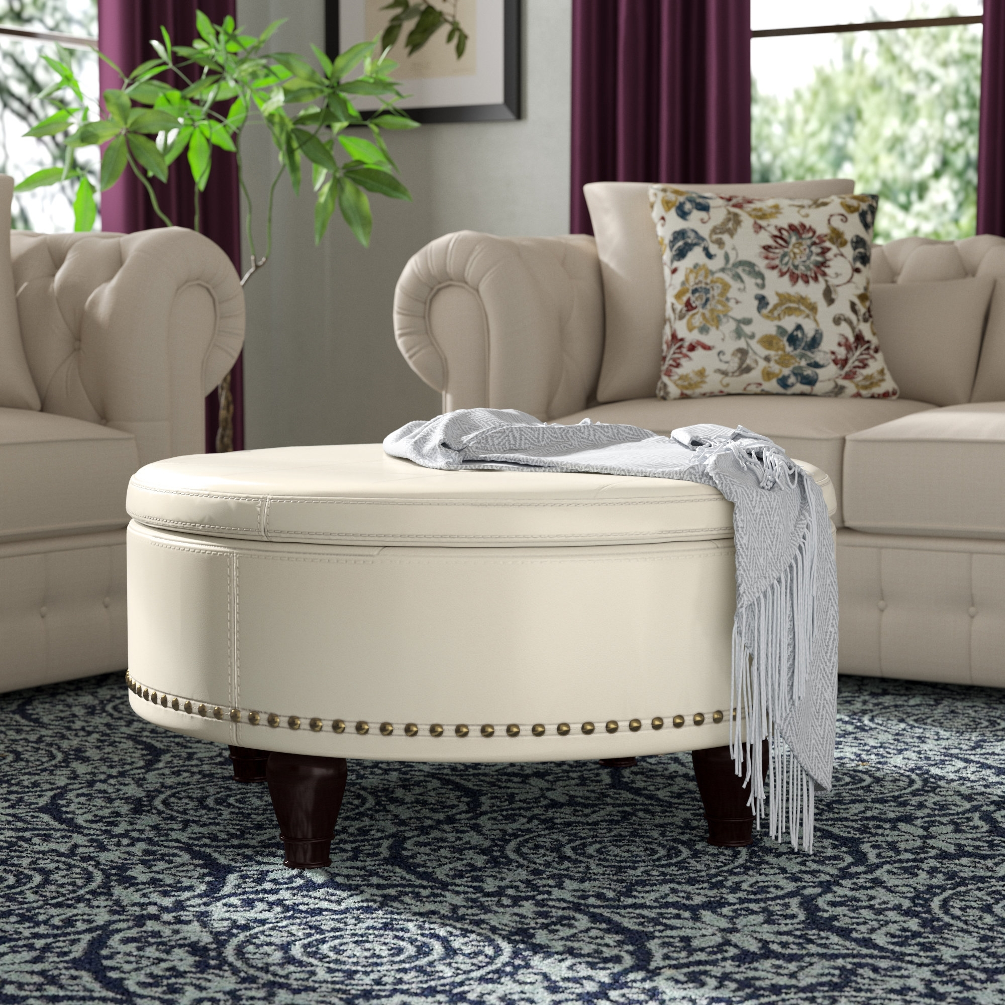Darby Home Co Ellen Storage Ottoman & Reviews | Wayfair inside Mill Large Leather Coffee Tables (Image 15 of 30)