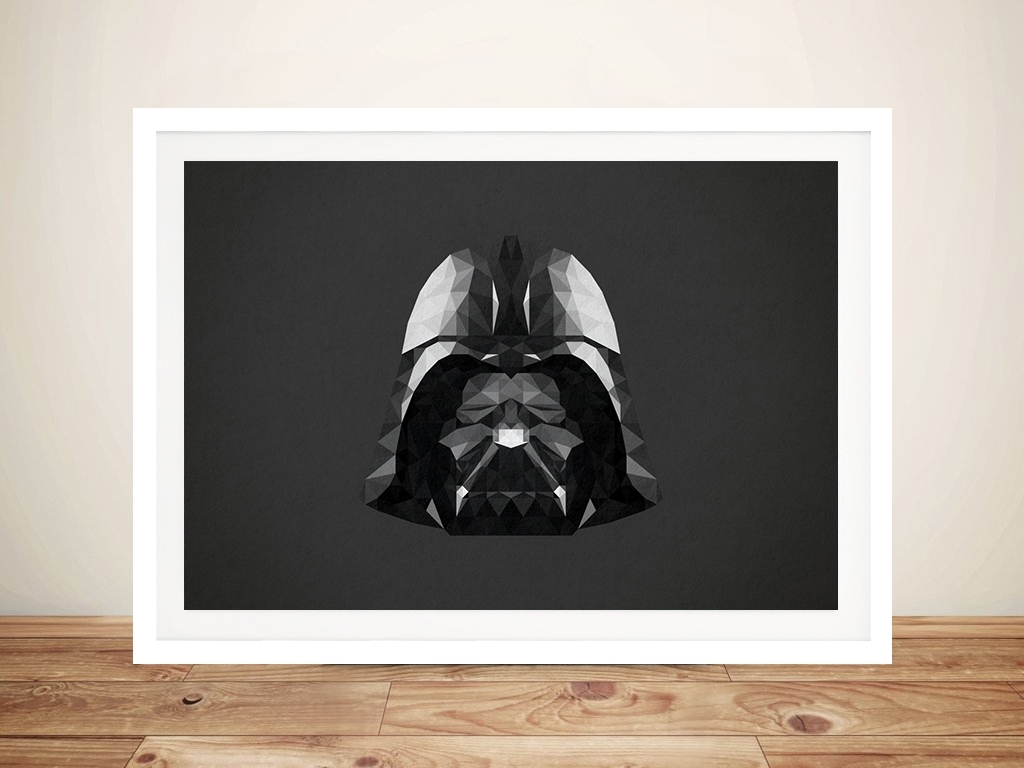 Darth Vader Helmet Geometric Star Wars Wall Art Print & Framed intended for Darth Vader Wall Art (Image 6 of 20)