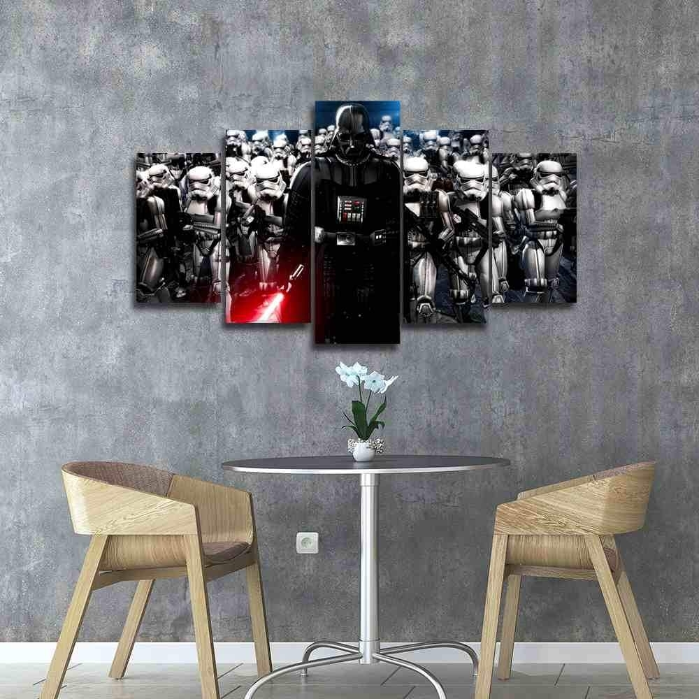 Darth Vader | Star Wars Canvas Panel Wall Art | Panelwallart intended for Darth Vader Wall Art (Image 9 of 20)
