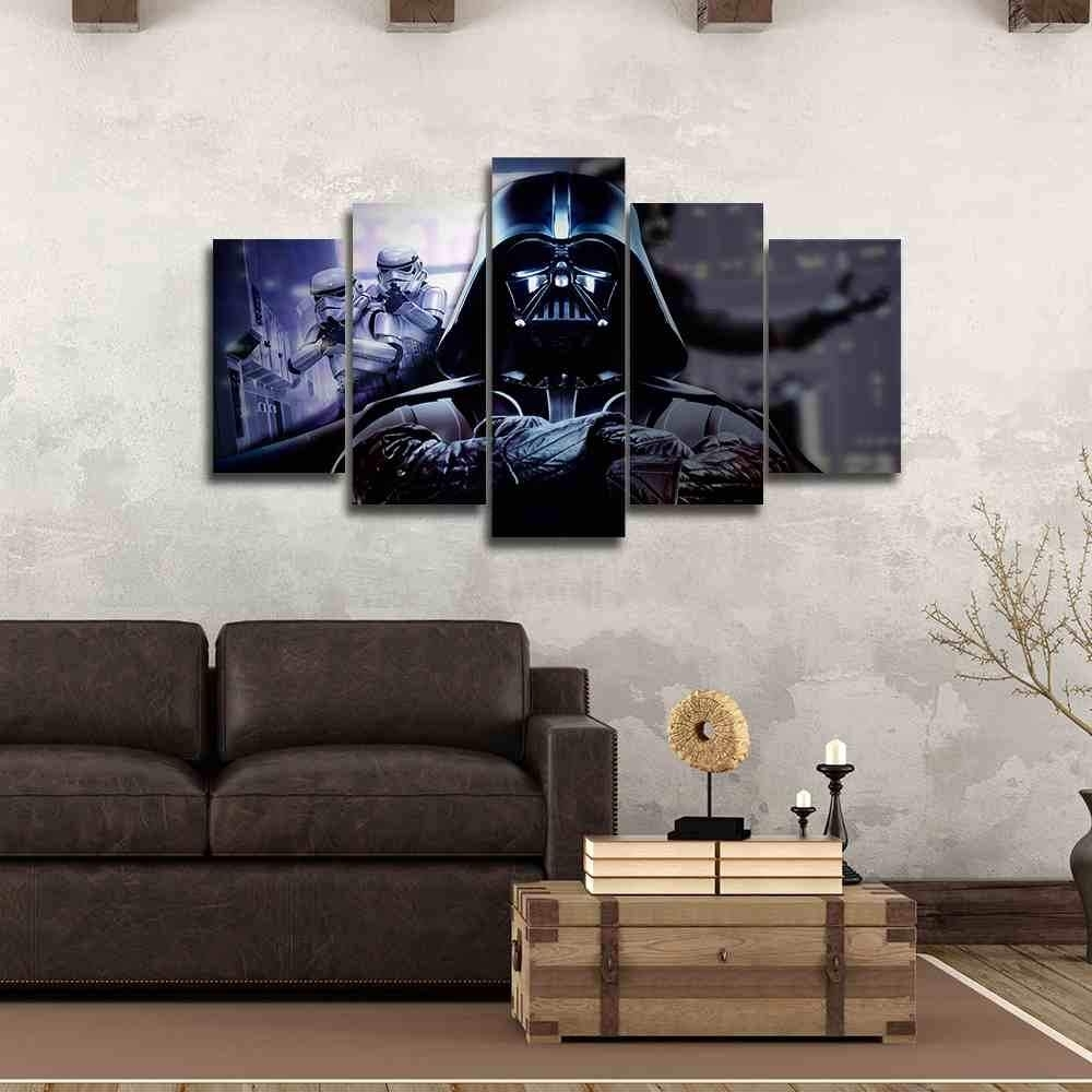 Darth Vader | Star Wars Canvas Panel Wall Art | Panelwallart with Darth Vader Wall Art (Image 10 of 20)