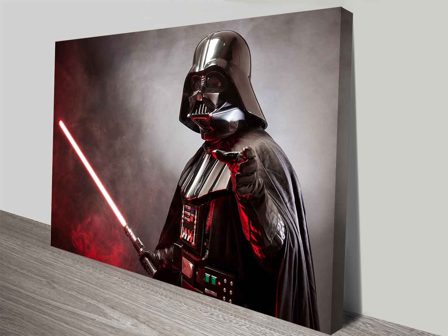 Darth Vader's Laser Sword Wall Art Print On Canvas Australia with Darth Vader Wall Art (Image 11 of 20)