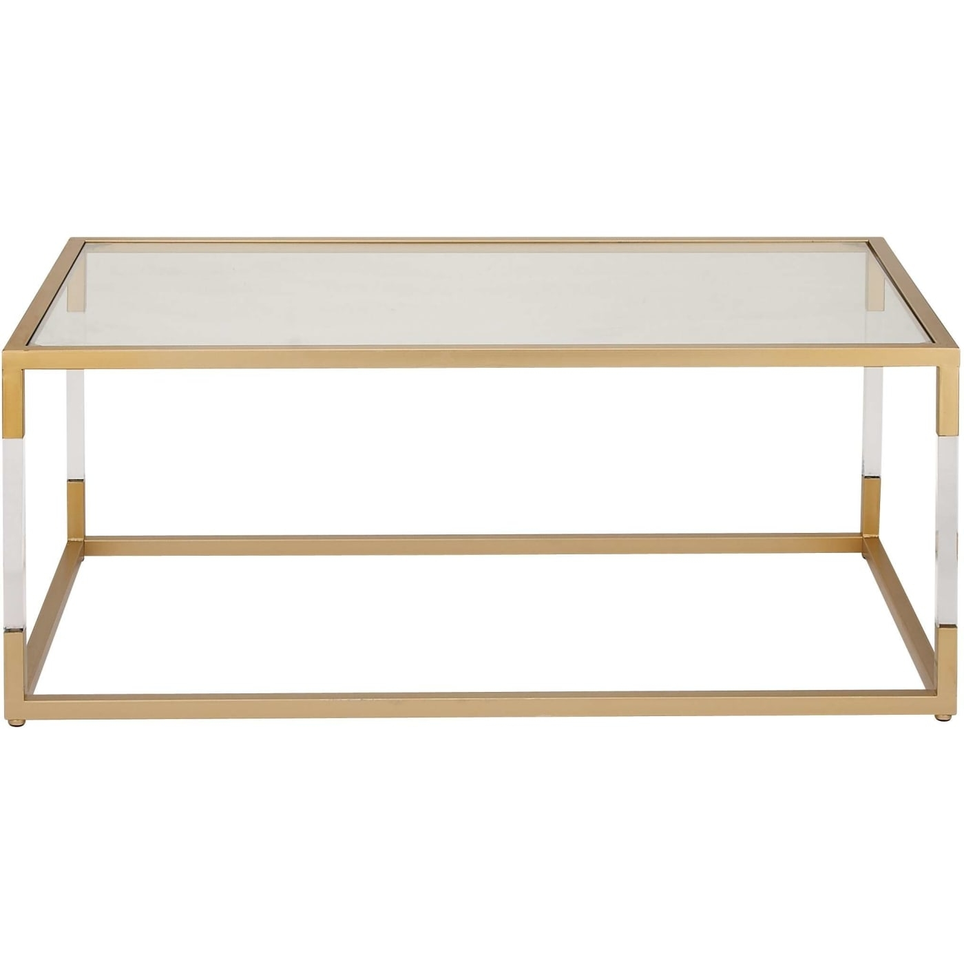 Dec Mode Collection Modern Reflections Metal Glass Acrylic Coffee intended for Modern Acrylic Coffee Tables (Image 13 of 30)