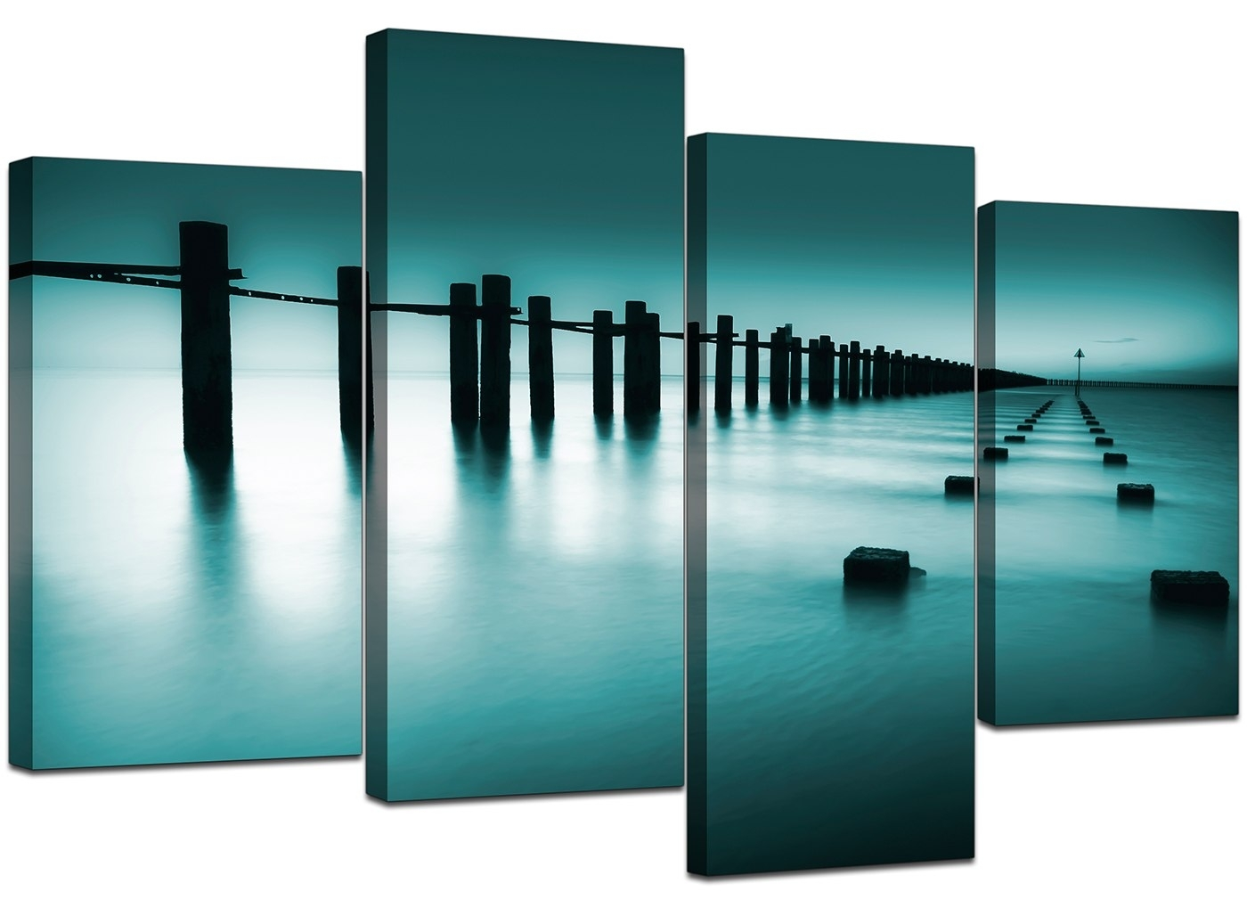 Decor: Decorate Bedroom Ideas With Large Canvas Wall Art In intended for Oversized Teal Canvas Wall Art (Image 8 of 20)