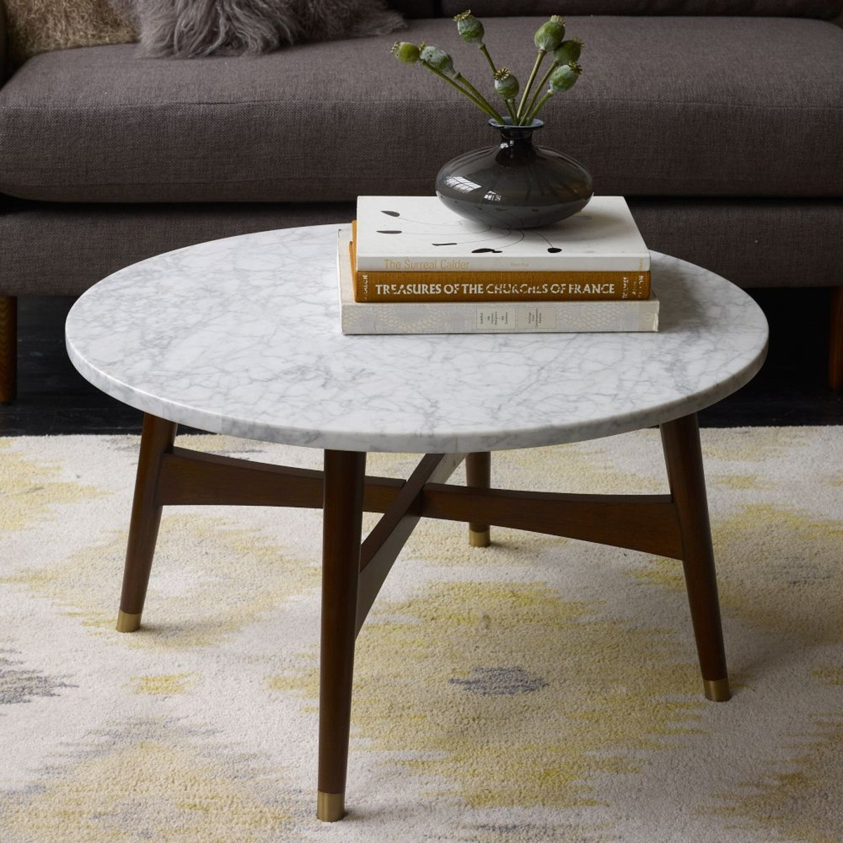 Decor: Inspiring Marble Coffee Table For Living Room Furniture Ideas with regard to 2 Tone Grey and White Marble Coffee Tables (Image 13 of 30)