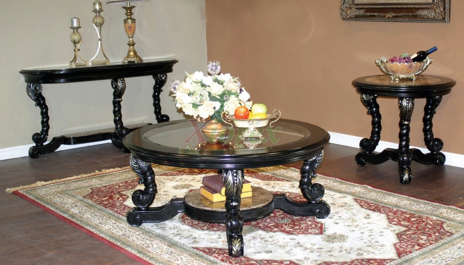 Decor Of Round Glass Coffee Table Sets With Stacking Round Glass inside Stack Hi-Gloss Wood Coffee Tables (Image 11 of 30)