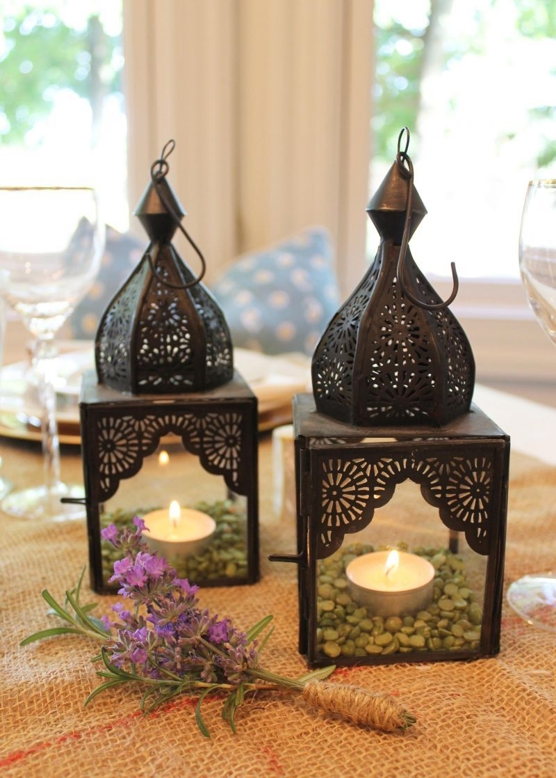Decorate With Moroccan Lanterns For Easy Tables Cape | Moroccan for Outdoor Turkish Lanterns (Image 4 of 20)