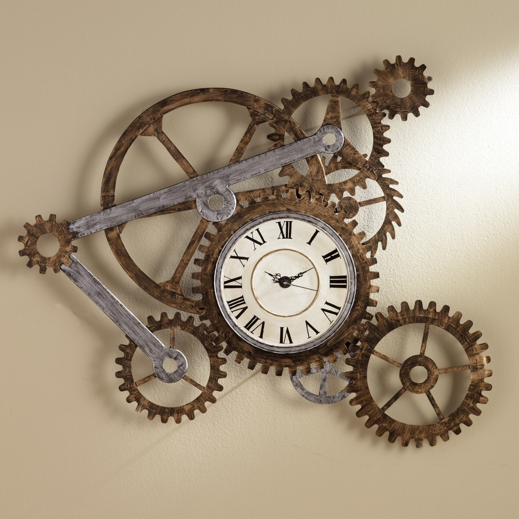 Decorating: Steampunk Wall Decor Spectacular Gear Wall Art With with Steampunk Wall Art (Image 4 of 20)