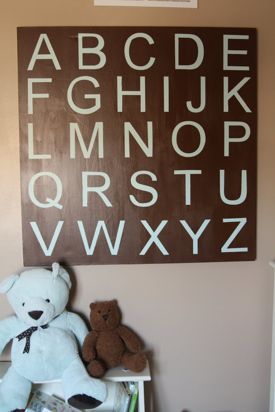 Decorating The Dorchester Way: Large Alphabet Wall Art within Alphabet Wall Art (Image 9 of 20)
