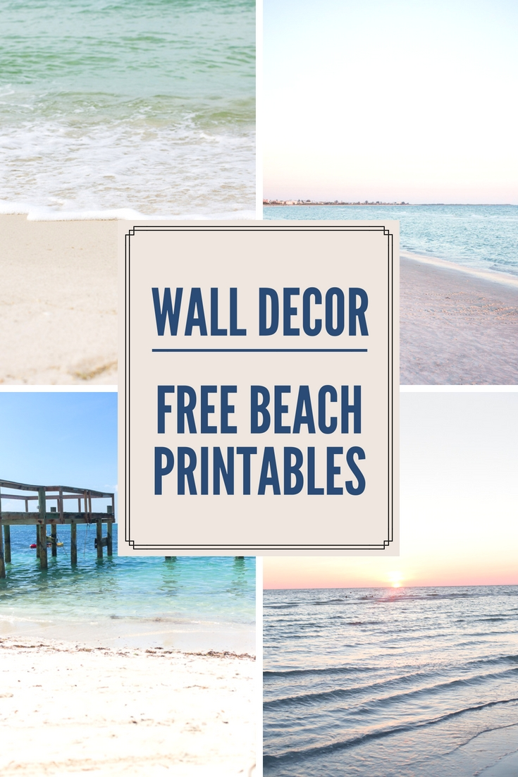Decorating With Beach Photos   Free Printable Beach Wall Art Regarding Beach Wall Art (Photo 10 of 20)