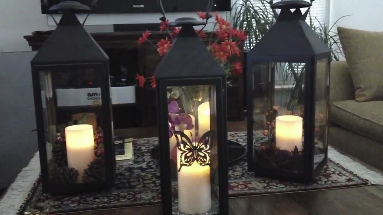 Decorating With Lanterns For Every Season - Youtube in Outdoor Lanterns Decors (Image 3 of 20)
