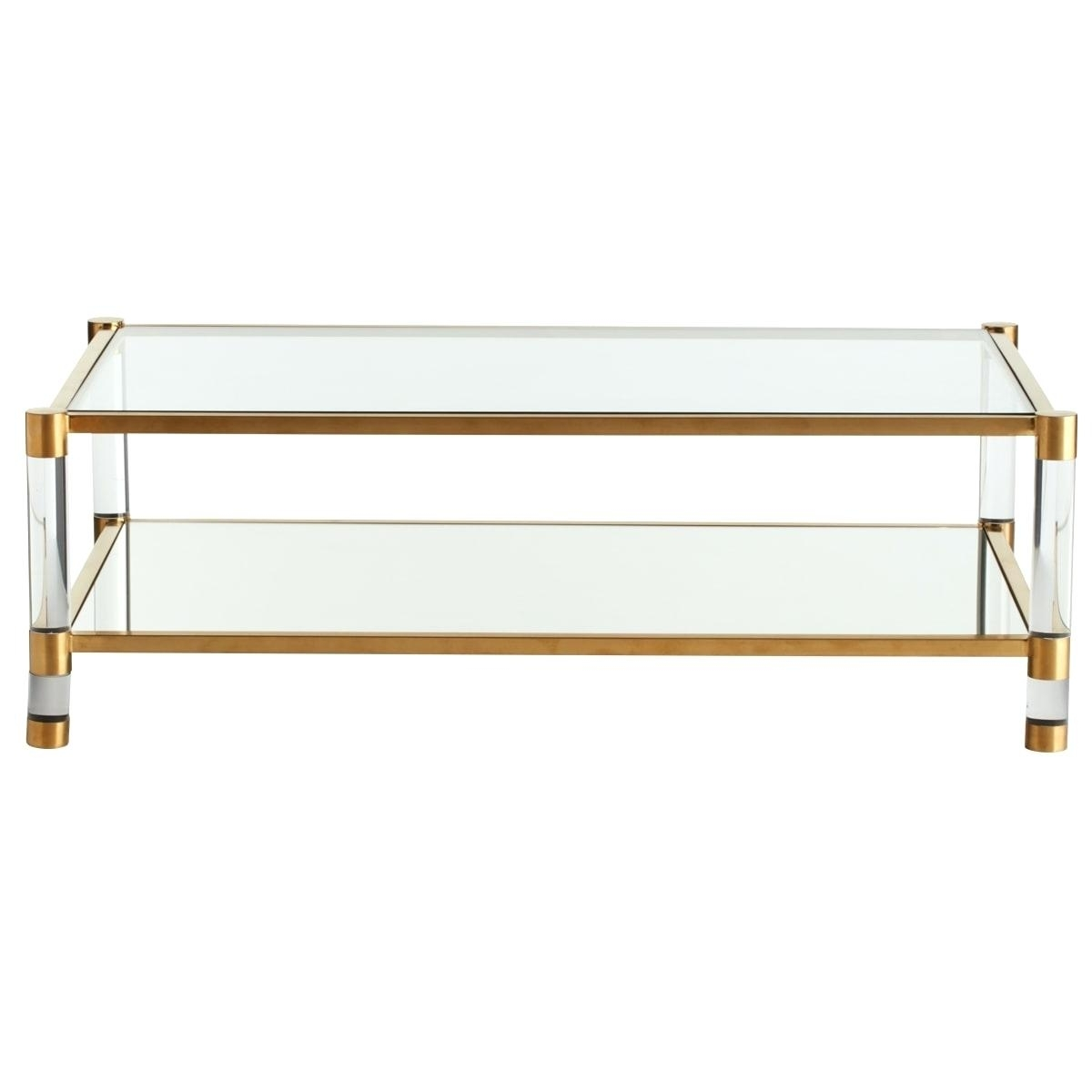 Decoration: Acrylic Glass And Brass Coffee Table Or. Acrylic And intended for Acrylic Glass and Brass Coffee Tables (Image 15 of 30)
