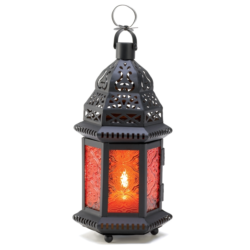 Decorative Candle Lanterns, Large Metal Lantern Candle Outdoor Patio within Outdoor Lanterns Decors (Image 4 of 20)