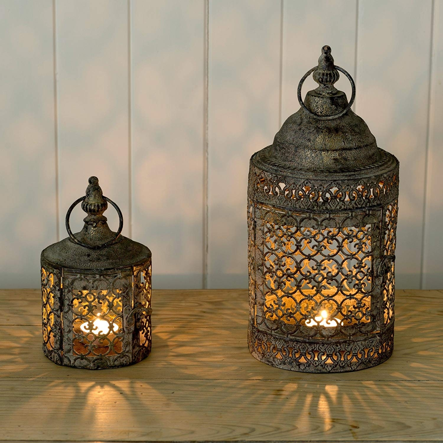 Decorative Lattice Moroccan Style Candle Lantern For Home & Garden pertaining to Moroccan Outdoor Lanterns (Image 5 of 20)