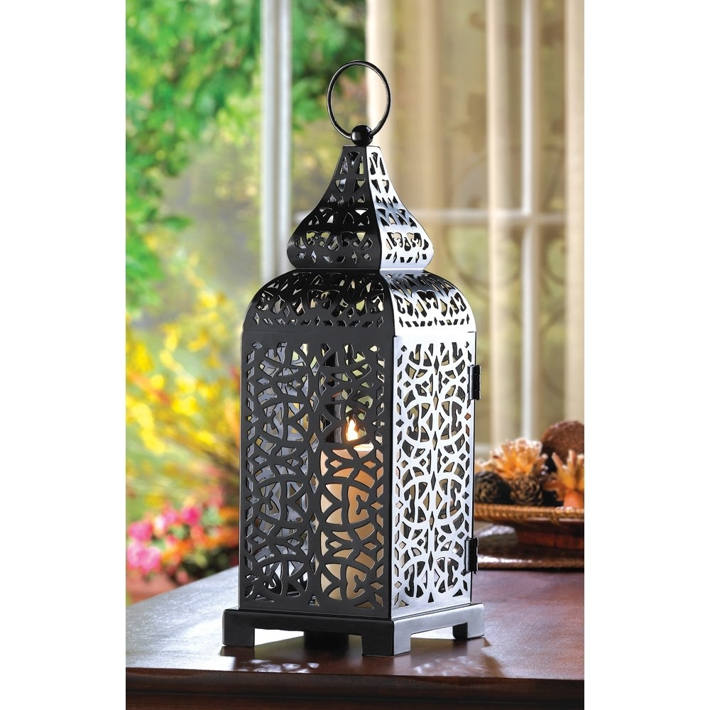 Decorative Outdoor Lanterns, Hanging Moroccan Table Lantern – Temple Regarding Outdoor Lanterns For Tables (View 3 of 20)