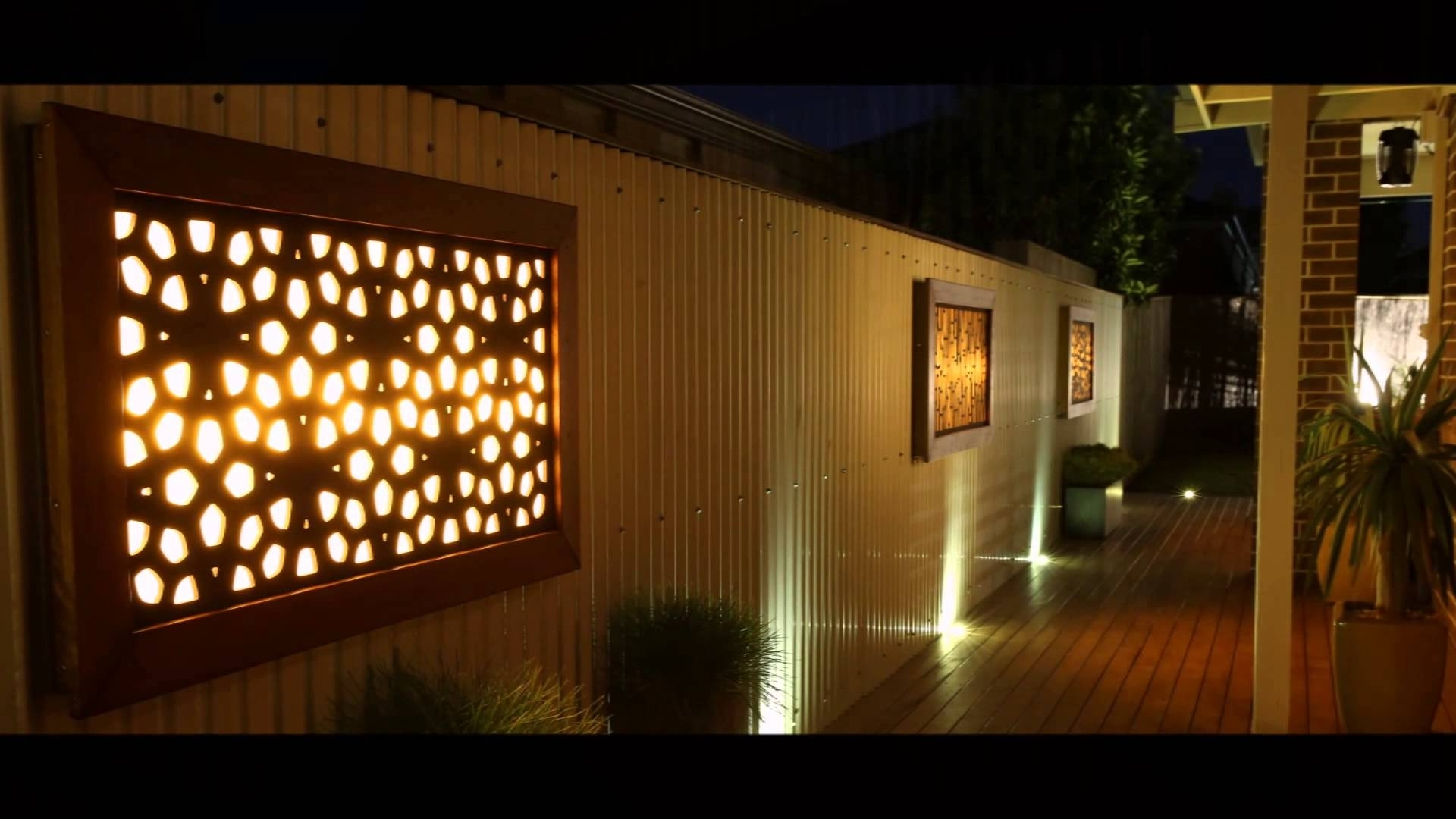 Decorative Outdoor Wall Art As Well Exterior With Metal Plus Shop in Outdoor Wall Art (Image 4 of 20)