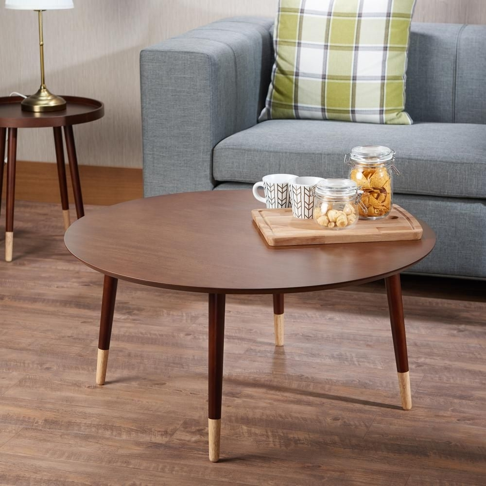 Dein Coffee Table In Walnut (Brown) | Acme Furniture inside Casbah Coffee-Side Tables (Image 17 of 30)