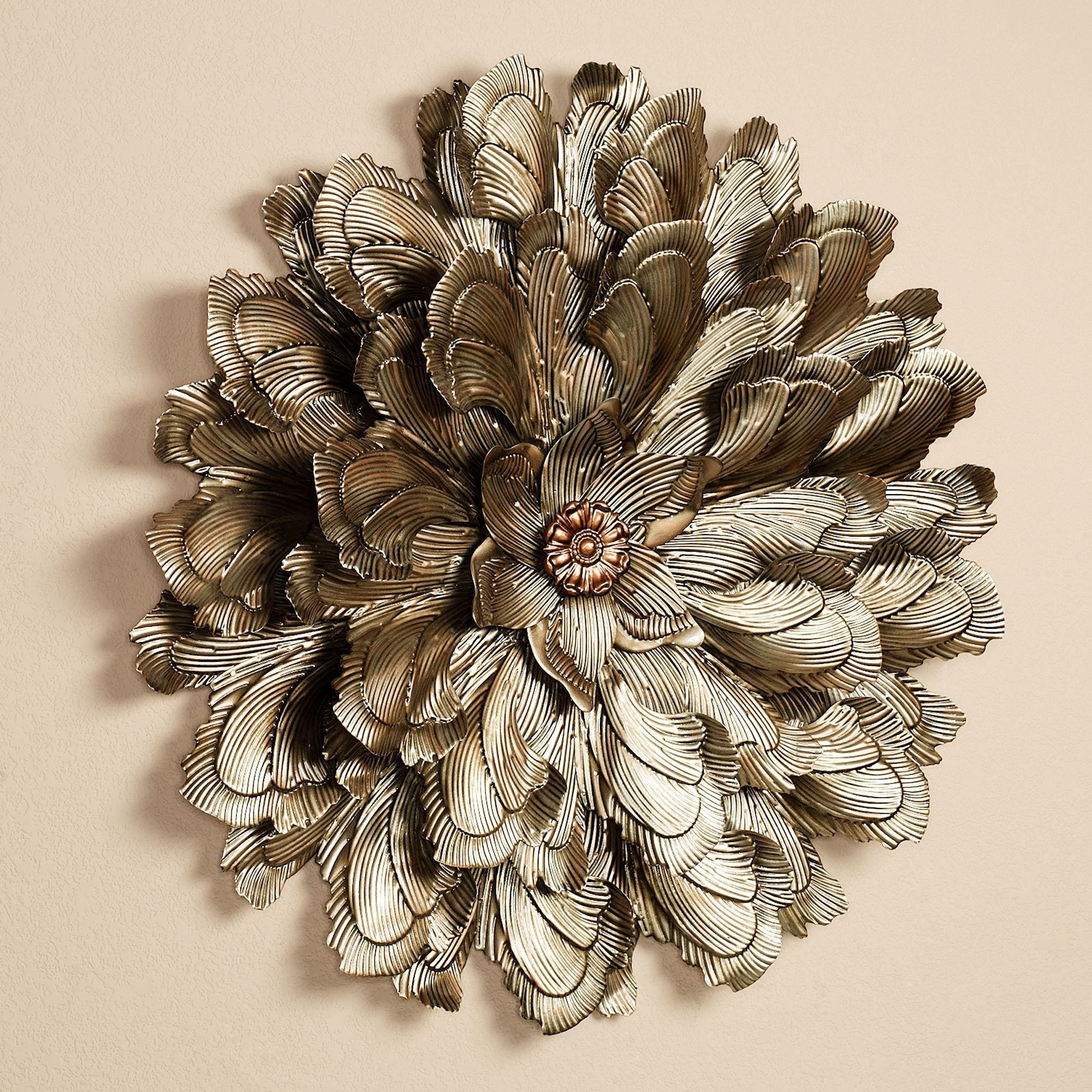 Delicate Flower Blossom Metal Wall Sculpture, Metal Flower Wall Art With Metal Flower Wall Art (View 13 of 20)