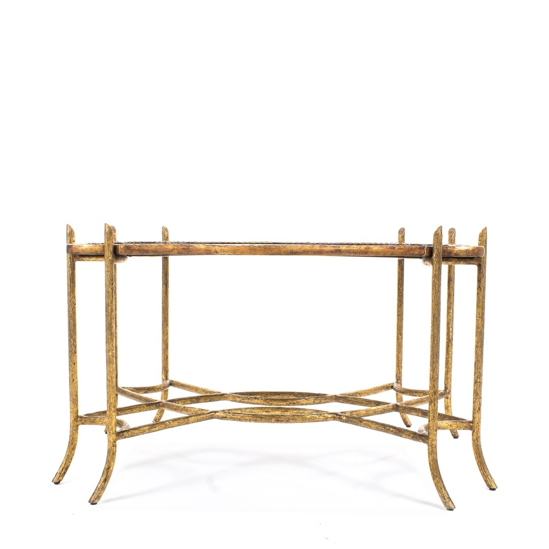 Dennis & Leen Chinoiserie Coffee Table W/antiqued Gold Faux Bois for Faux Bois Coffee Tables (Image 10 of 30)