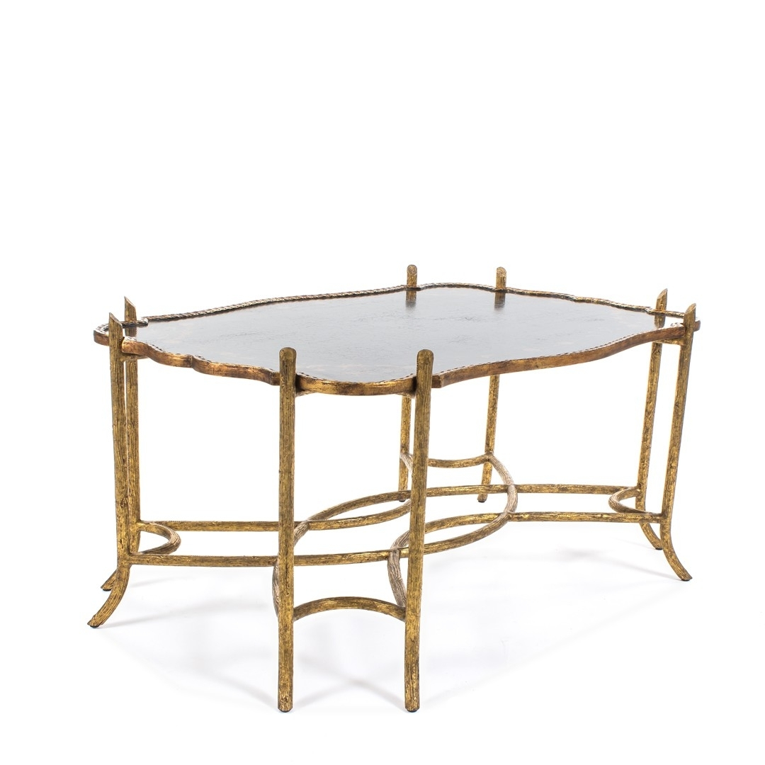 Dennis & Leen Chinoiserie Coffee Table W/antiqued Gold Faux Bois inside Faux Bois Coffee Tables (Image 11 of 30)