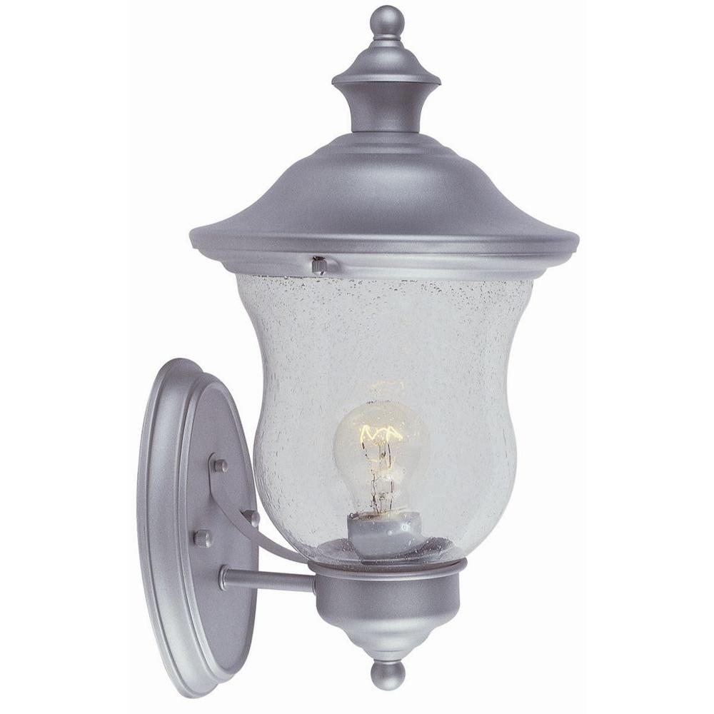 Design House Highland Heritage Silver Outdoor Wall Mount Uplight With Regard To Silver Outdoor Lanterns (View 6 of 20)
